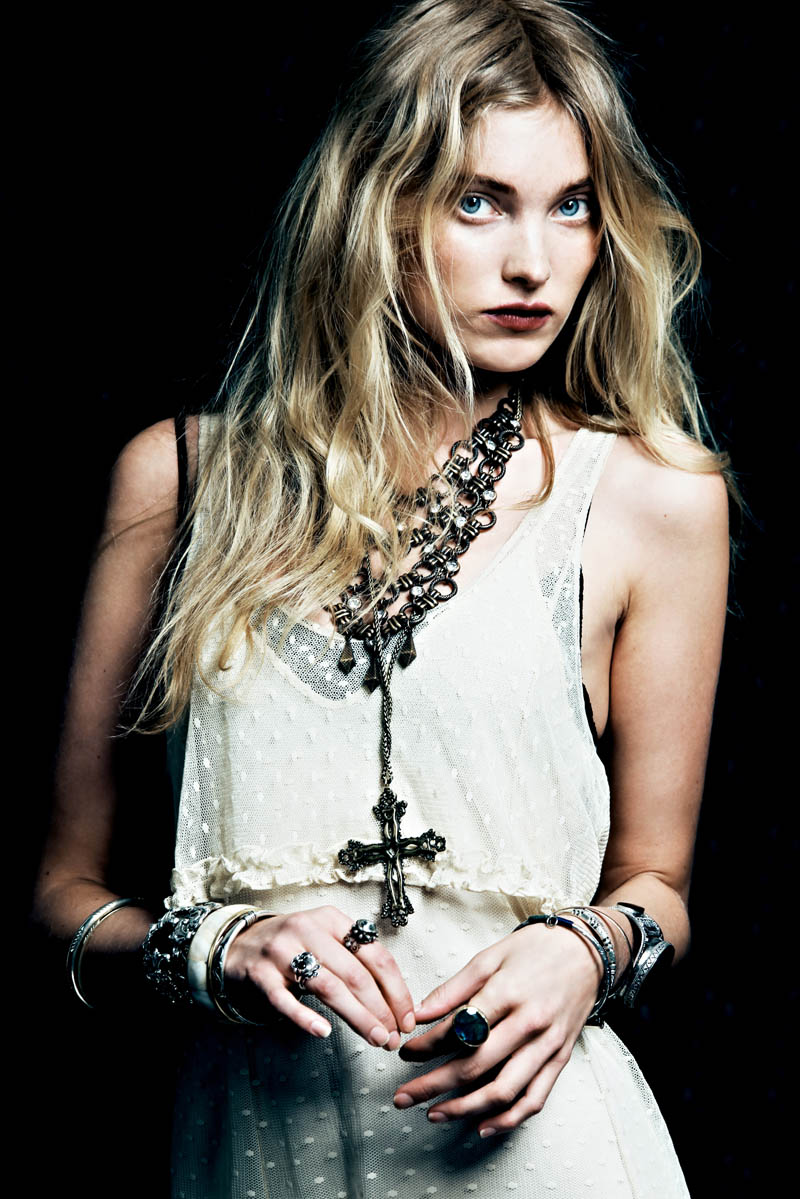 Dark Rose 11 Free People Gets Dark for its March Lookbook Starring Elsa Hosk