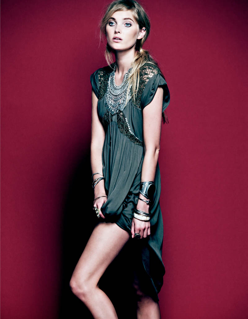 Dark Rose 4 Free People Gets Dark for its March Lookbook Starring Elsa Hosk