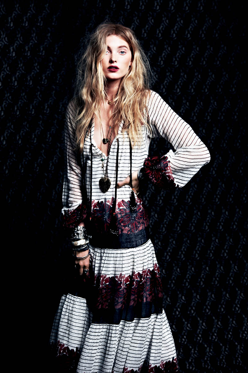 Dark Rose 7 Free People Gets Dark for its March Lookbook Starring Elsa Hosk