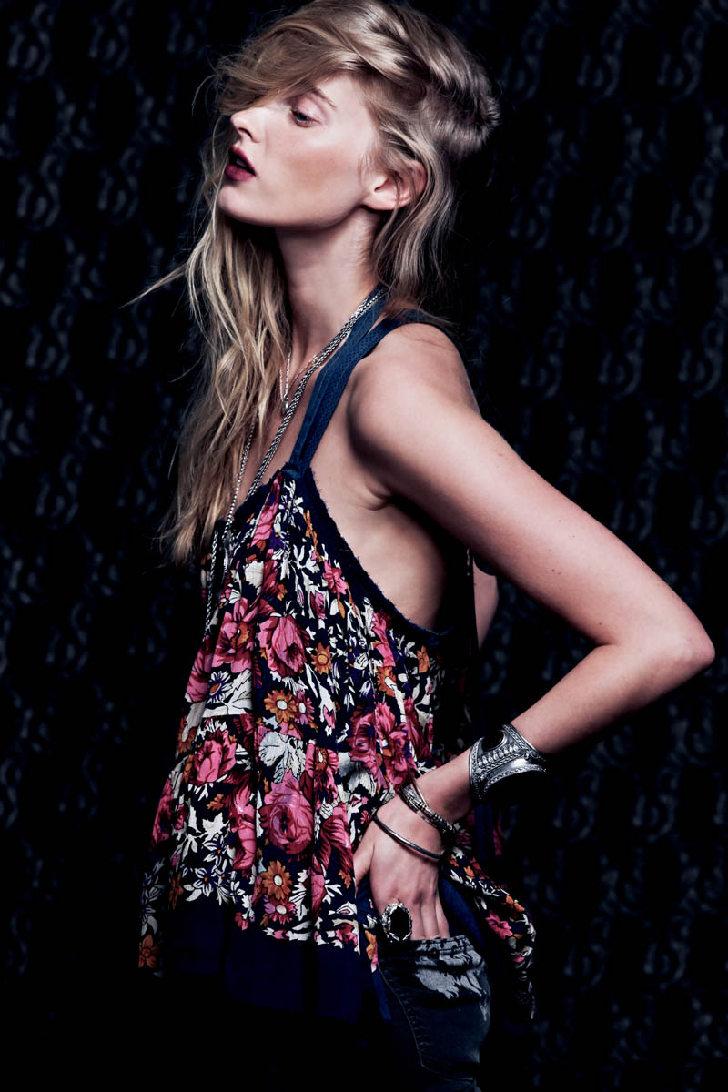 Dark Rose 9 Free People Gets Dark for its March Lookbook Starring Elsa Hosk