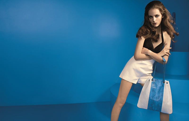 Devi Kroell SS13 Ad Image Zuzanna Bijoch Dives Into the Blue for Devi Kroells Spring 2013 Campaign