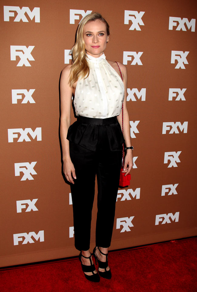 Diane Jason Wu2 Diane Kruger in Jason Wu at the 2013 FX Upfront Bowling Event