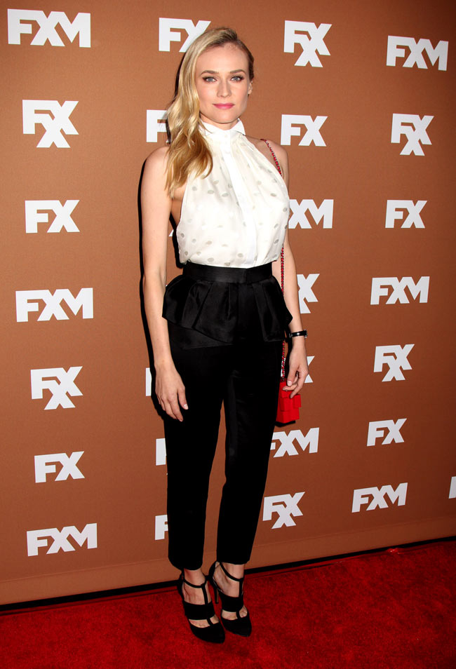 Diane Jason Wu3 Diane Kruger in Jason Wu at the 2013 FX Upfront Bowling Event