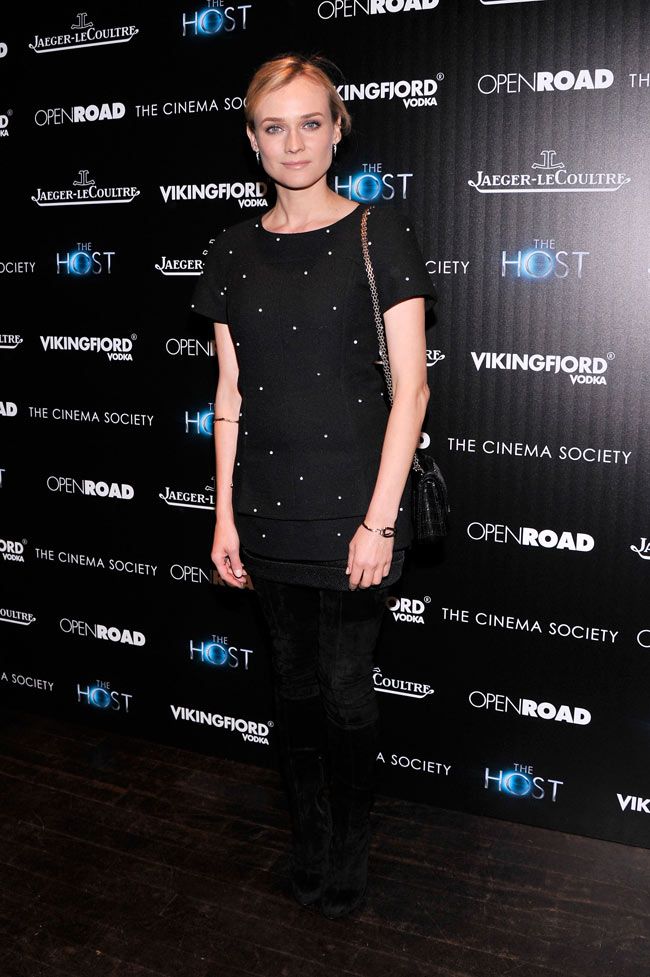 Diane Kruger Chanel1 Diane Kruger in Chanel at The Host NYC Screening