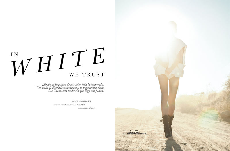 ELLE 135 Moda Santi 1 Santiago Ruisenor Captures Madara in White Hot Looks for Elle Mexico March 2013