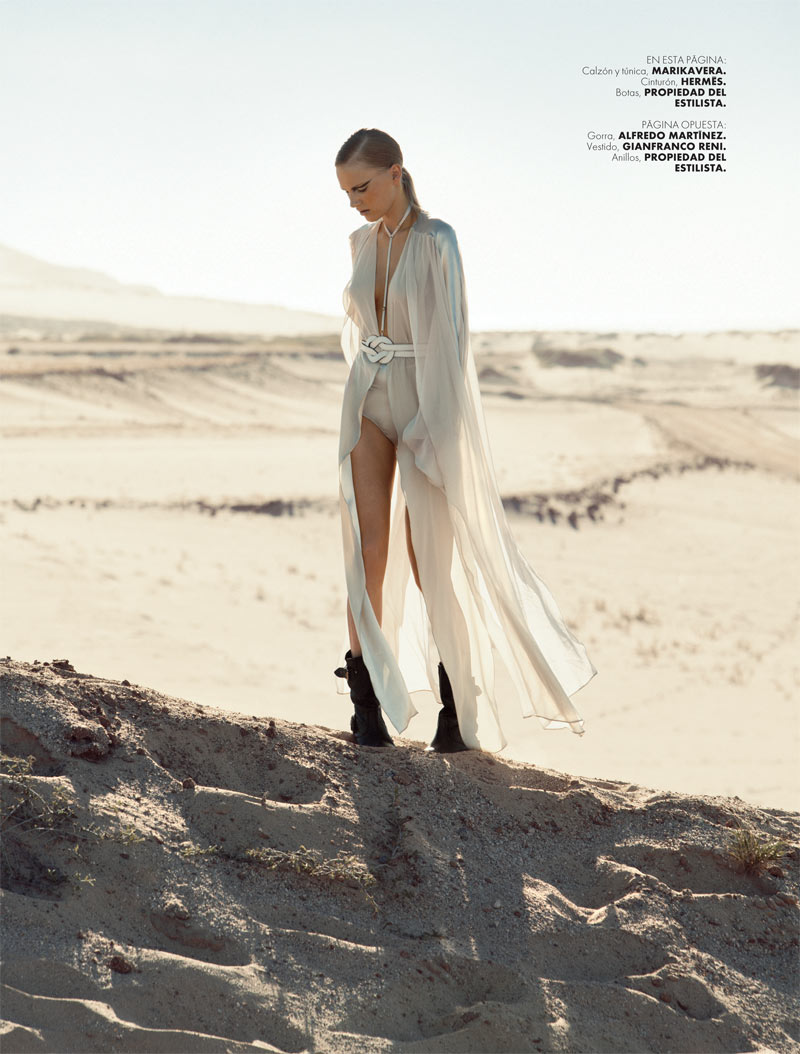ELLE 135 Moda Santi 2 Santiago Ruisenor Captures Madara in White Hot Looks for Elle Mexico March 2013