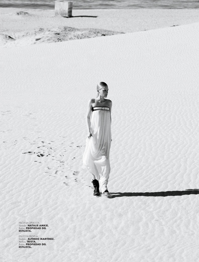 ELLE 135 Moda Santi 3a Santiago Ruisenor Captures Madara in White Hot Looks for Elle Mexico March 2013