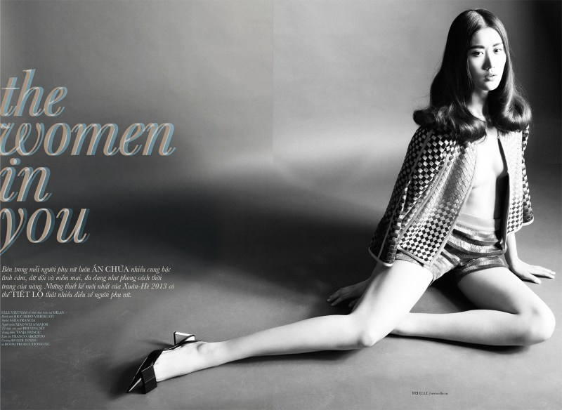 ElleVietnamShoot1 Xiao Wei Sports Spring Looks for Elle Vietnam April 2013 by Riccardo Vimercati