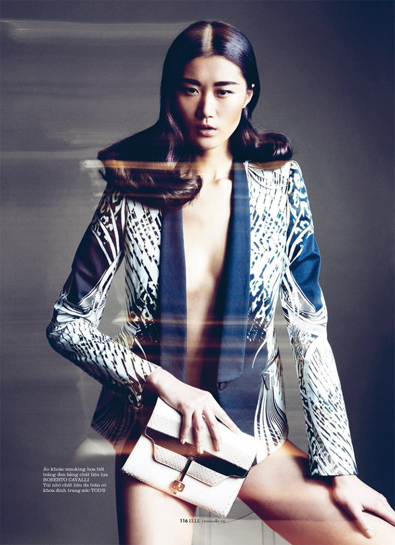 ElleVietnamShoot2 Xiao Wei Sports Spring Looks for Elle Vietnam April 2013 by Riccardo Vimercati