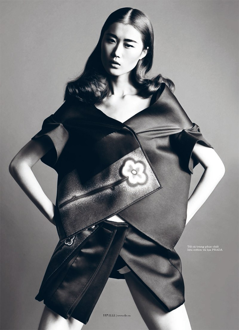 ElleVietnamShoot3 Xiao Wei Sports Spring Looks for Elle Vietnam April 2013 by Riccardo Vimercati