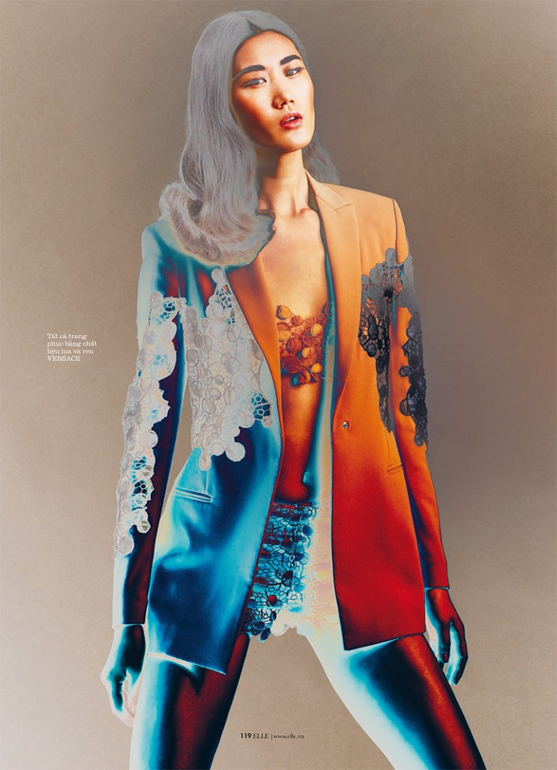 ElleVietnamShoot5 Xiao Wei Sports Spring Looks for Elle Vietnam April 2013 by Riccardo Vimercati