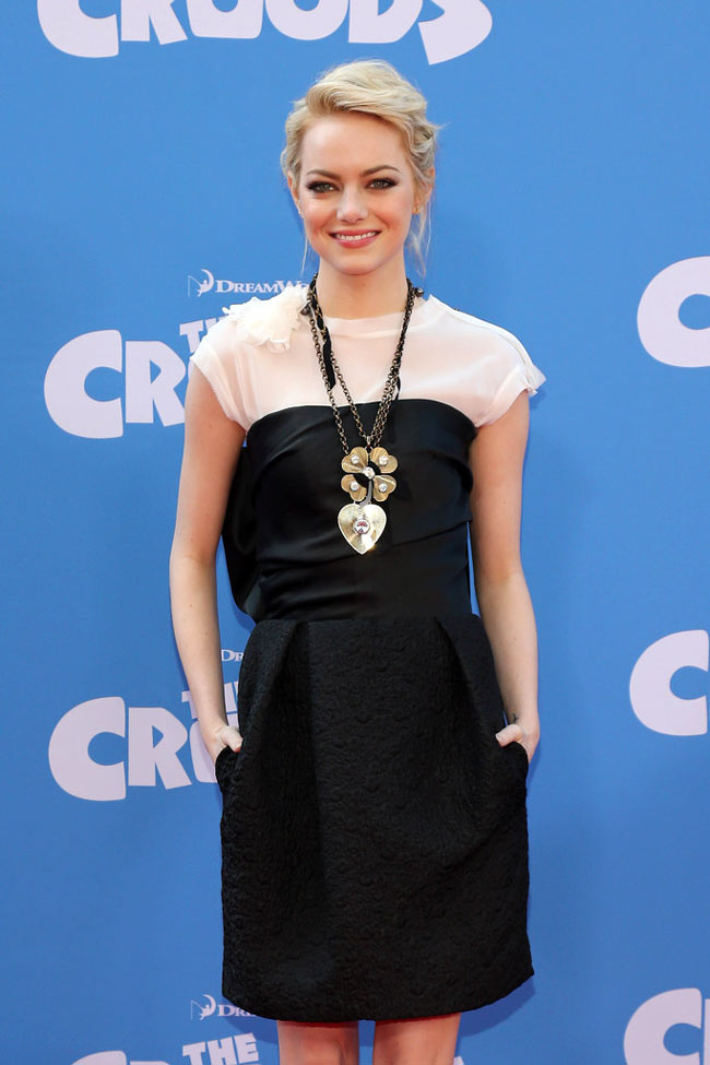Emma Stone Lanvin1 Emma Stone in Lanvin at The Croods New York Premiere