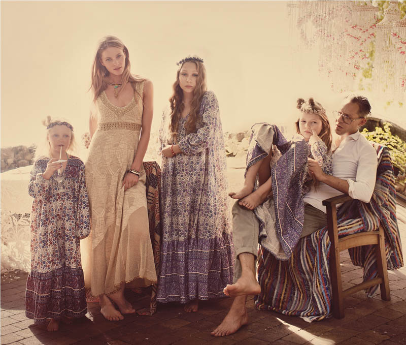Crystal Renn and Ieva Laguna Star in Free People's April Catalogue