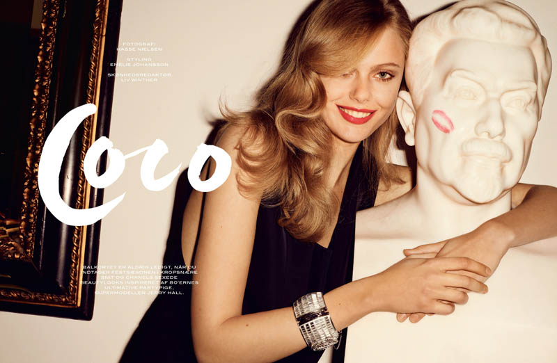 FridaGustavssonCover1 Frida Gustavsson Stars in Cover Magazines April Issue