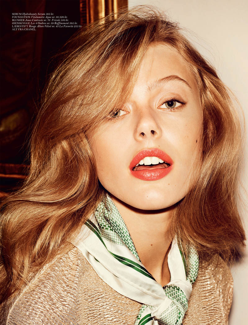FridaGustavssonCover8 Frida Gustavsson Stars in Cover Magazines April Issue