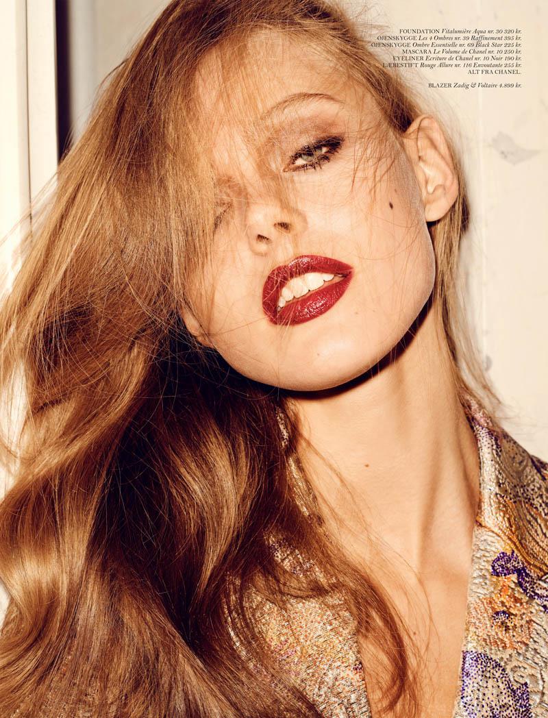 FridaGustavssonCover9 Frida Gustavsson Stars in Cover Magazines April Issue
