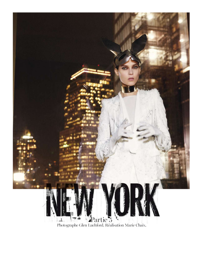 Glen Luchford x Marie Chaix NY Part 5 1 Kati Nescher Enchants the City for Vogue Paris March 2013 by Glen Luchford
