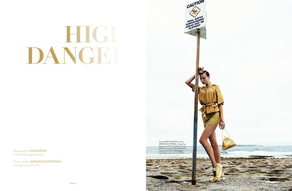 High Danger 1a Gunita Casts a Spell on Tim Ashtons Lens for Remix Magazine