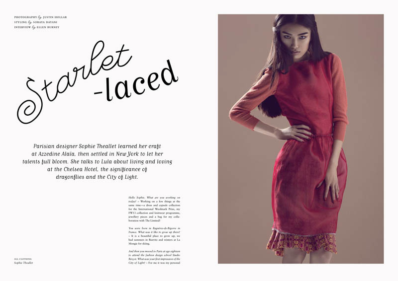 JUSTIN HOLLAR STARLET LACED 6 2 1 Justin Hollar Captures Sissi Hou for Lulas Spring/Summer Issue