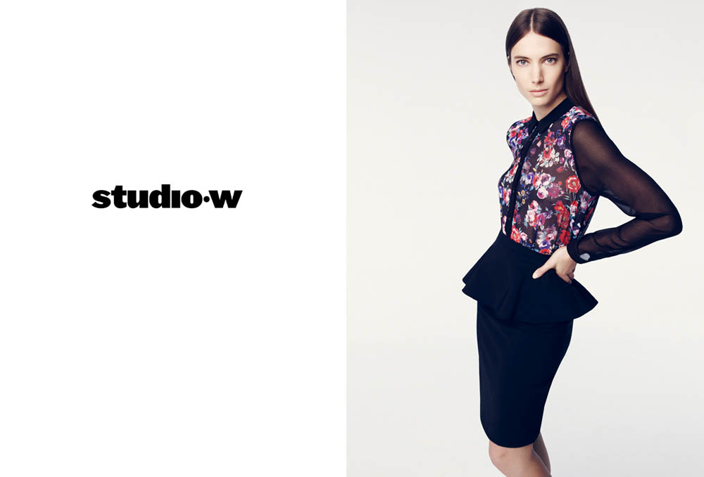 JessicaMillerStudioW5 Jessica Miller Fronts the Studio W Spring 2013 Campaign by Nagi Sakai