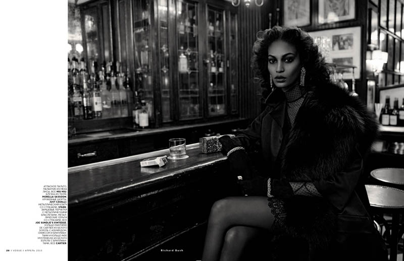 JoanSmallsVogueRussiaBush5 Joan Smalls Poses for Richard Bush in Vogue Russias April 2013 Cover Story