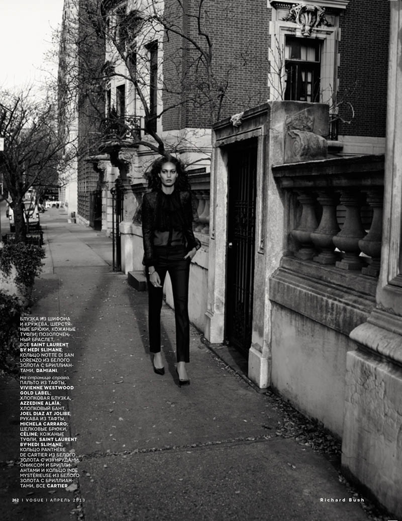 JoanSmallsVogueRussiaBush8 Joan Smalls Poses for Richard Bush in Vogue Russias April 2013 Cover Story