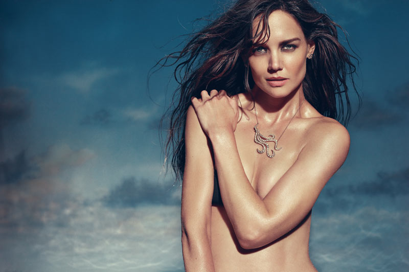 Katie Holmes in HStern Iris Collection Campaign 1 Katie Holmes Smolders for the H. Stern Iris Collection Campaign