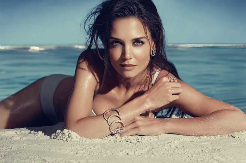 Katie Holmes in HStern Iris Collection Campaign 6 Katie Holmes Smolders for the H. Stern Iris Collection Campaign