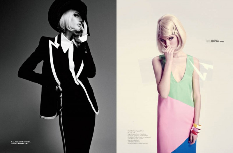 Katie Fogarty is Mod Chic for Elle Mexico April 2013