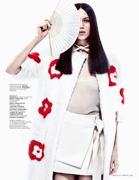 Keke Lindgard and Maiken Abma Sport Japanese Inspired Style for L'Officiel Paris, Shot by Jason Kim