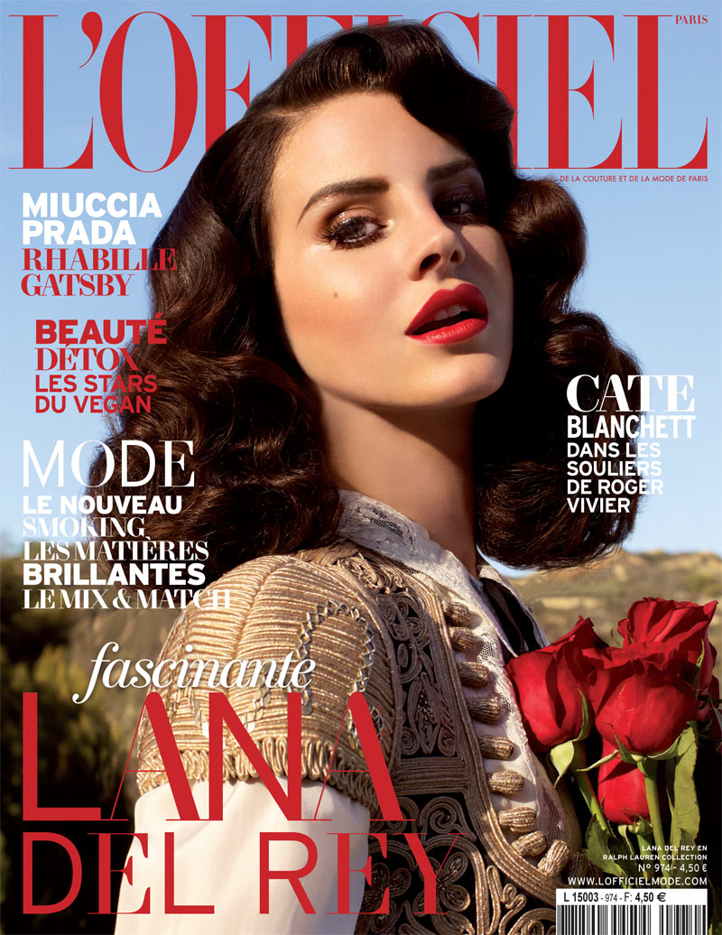 LanaDelReyLofficiel15 Lana Del Rey Gets Romantic for LOfficiel Paris April 2013 Cover Shoot