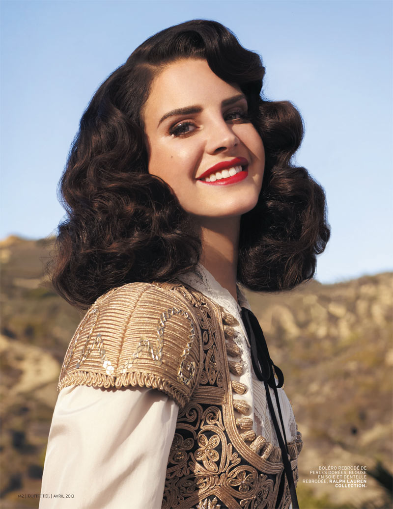 LanaDelReyLofficiel8 Lana Del Rey Gets Romantic for LOfficiel Paris April 2013 Cover Shoot