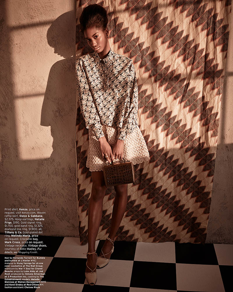 MelodieMonroseElle10 Melodie Monrose is 60s Glam for Mariano Vivanco in Elle US April 2013