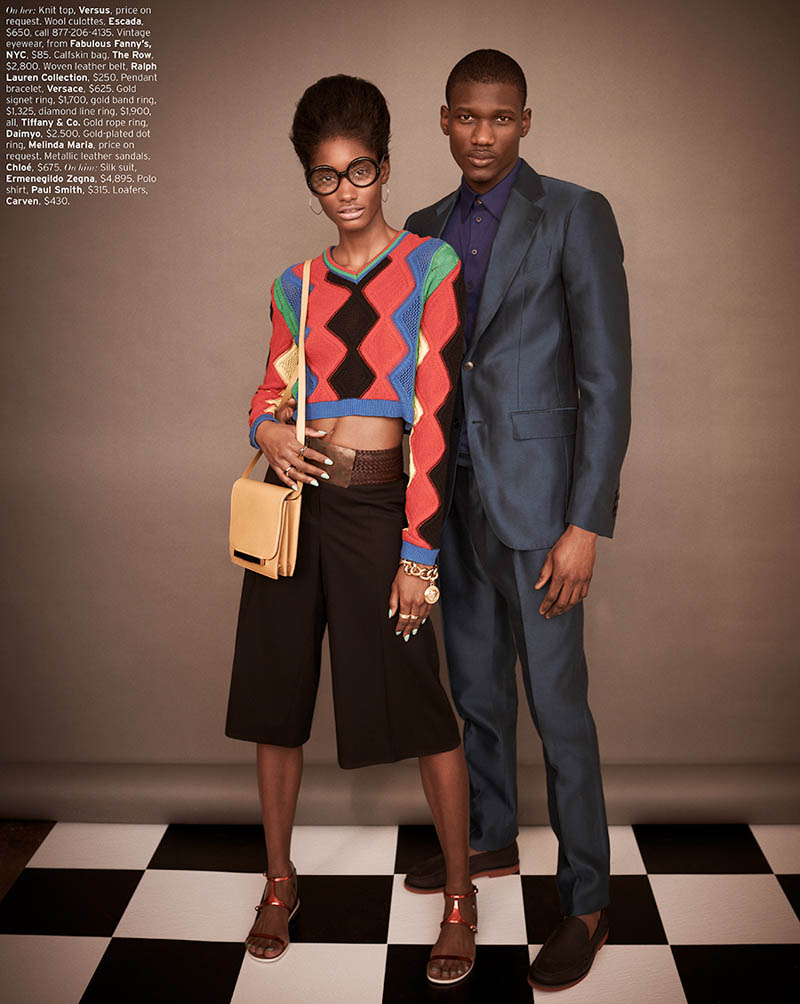MelodieMonroseElle3 Melodie Monrose is 60s Glam for Mariano Vivanco in Elle US April 2013