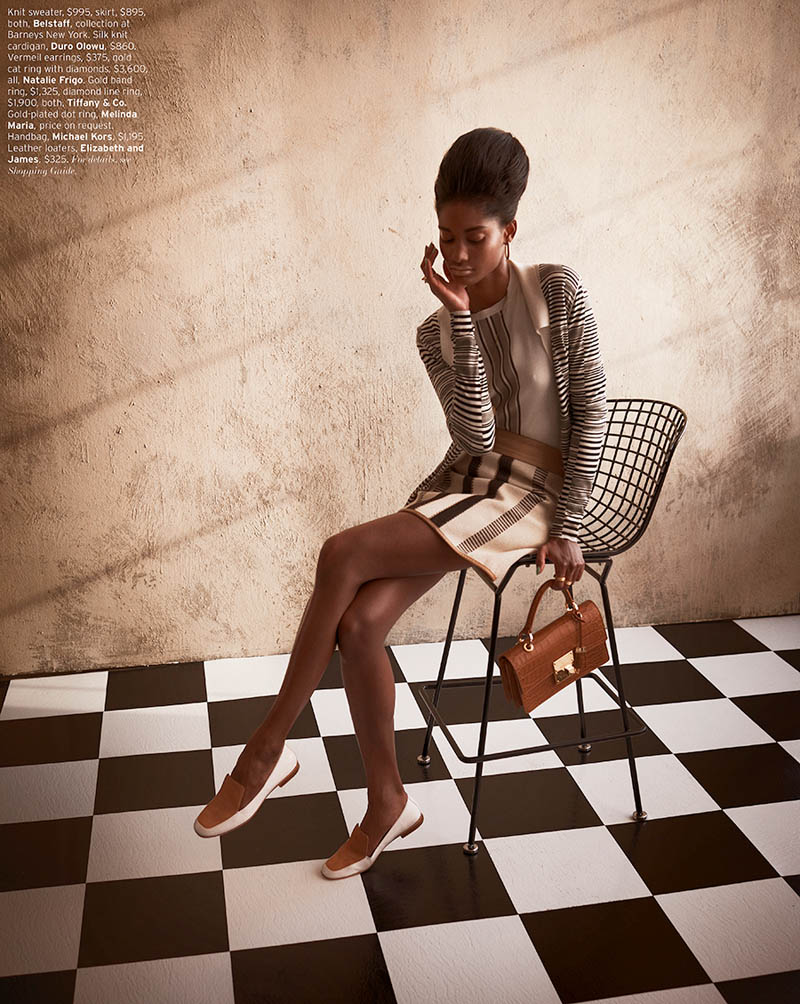 MelodieMonroseElle4 Melodie Monrose is 60s Glam for Mariano Vivanco in Elle US April 2013
