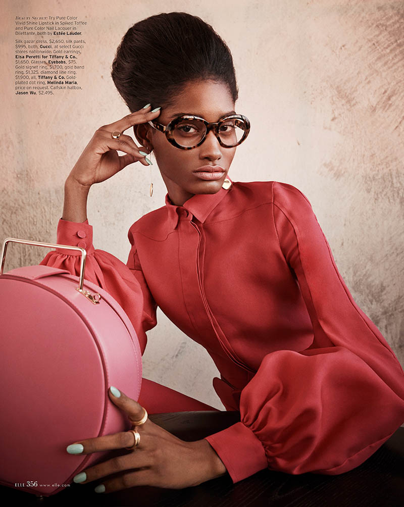 MelodieMonroseElle9 Melodie Monrose is 60s Glam for Mariano Vivanco in Elle US April 2013