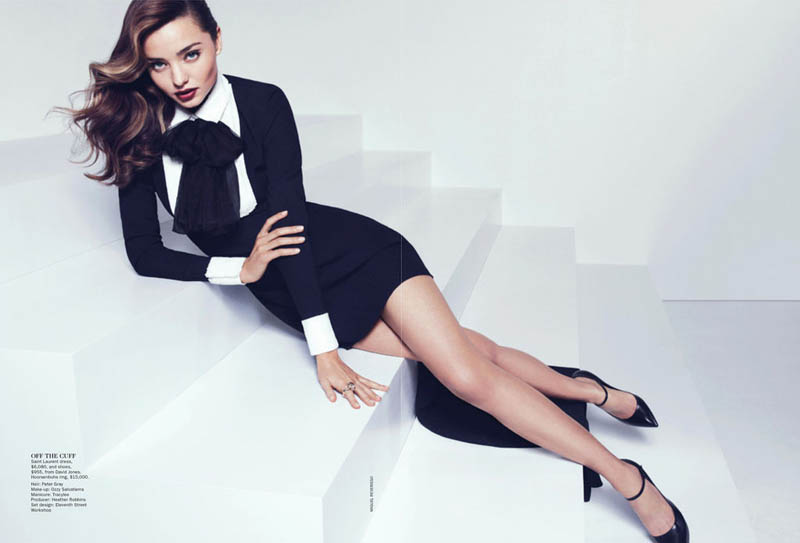 MirandaKerrVogueShoot8 Miranda Kerr Sports Spring Styles for Vogue Australias April Cover Shoot