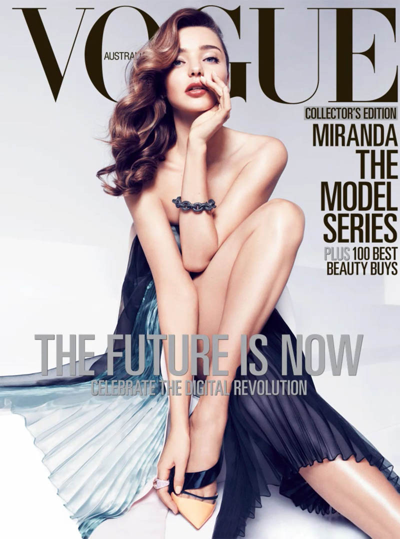 MirandaKerrVogueShoot9 Miranda Kerr Sports Spring Styles for Vogue Australias April Cover Shoot