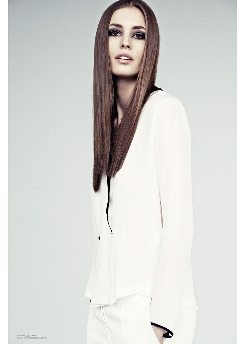 Nadja Bender Models Minimal Style for Eurowoman by Honer Akrawi
