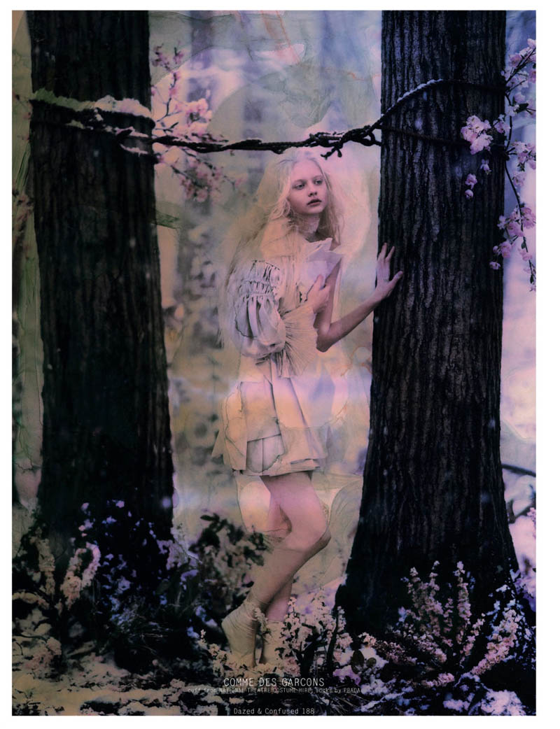 NastyaKusakinaDazedShoot5 Nastya Kusakina Enchants for Jeff Bark in Dazed & Confuseds March Issue