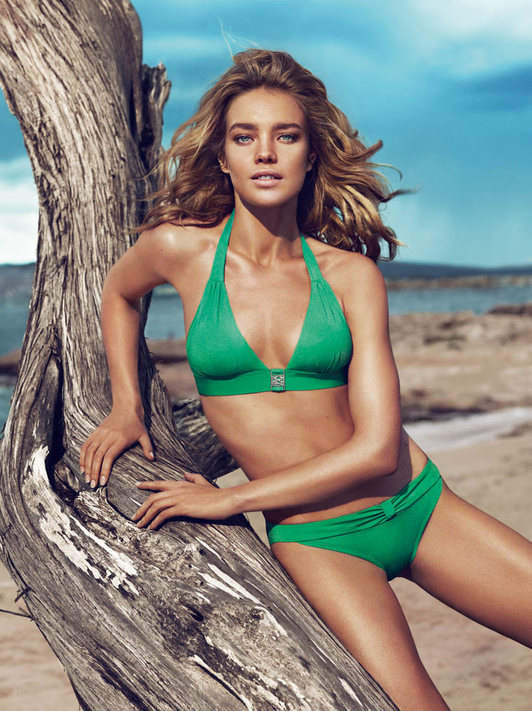 NataliaVodianovaEtam1 Natalia Vodianova Rocks Sexy Swim for Etams Spring 2013 Campaign