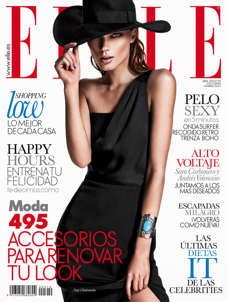 NatyChabanenkoElle10 Naty Chabanenko Stars in Elle Spains April 2013 Cover Shoot by Xavi Gordo