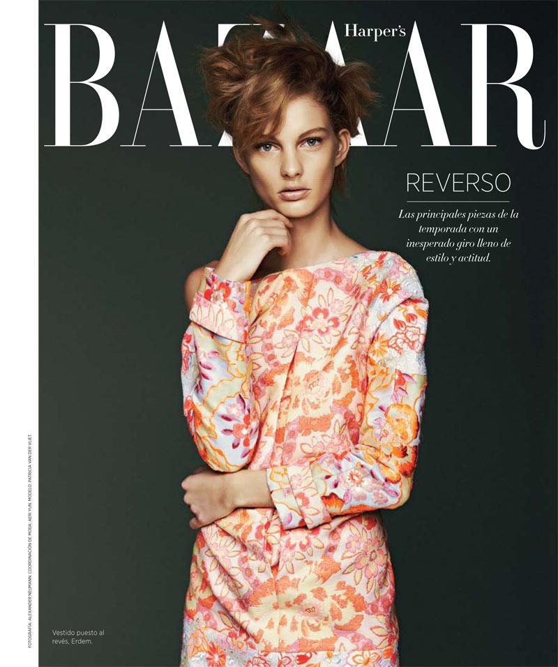 PatriciaVlietBazaarLA1 Patricia Van der Vliet Shines in Harpers Bazaar Latin Americas April 2013 Cover Story