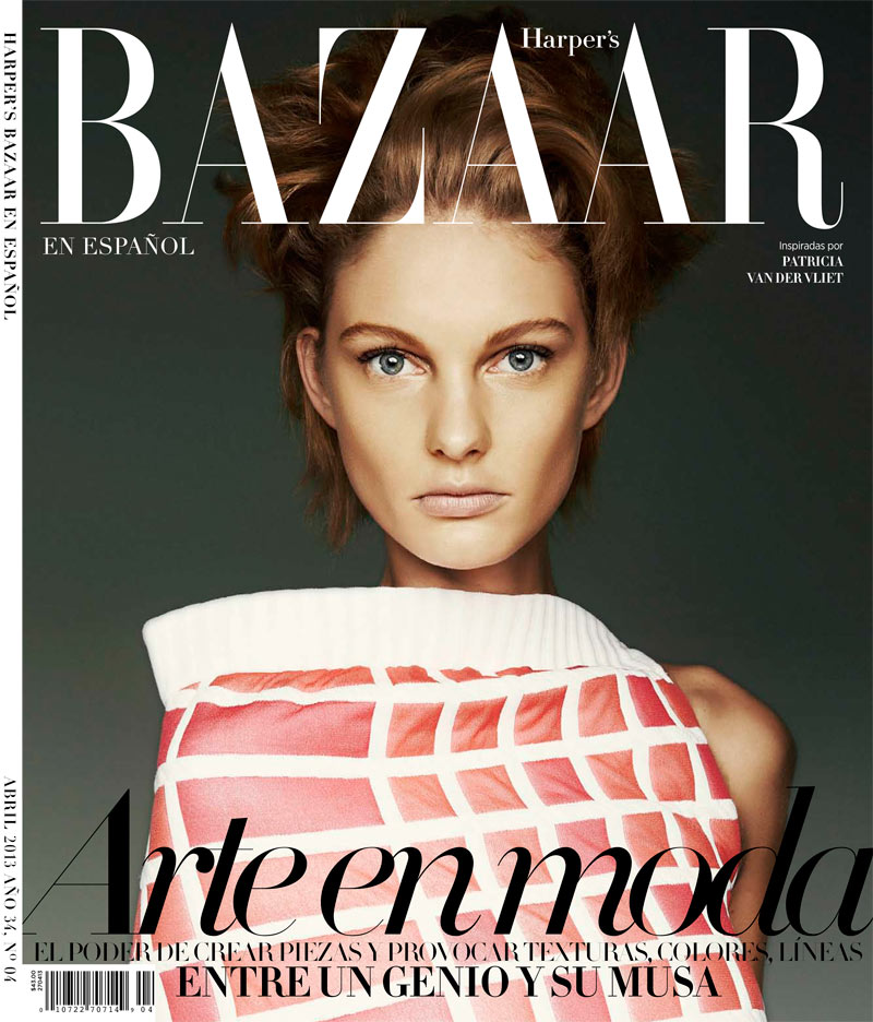 PatriciaVlietBazaarLA10 Patricia Van der Vliet Shines in Harpers Bazaar Latin Americas April 2013 Cover Story