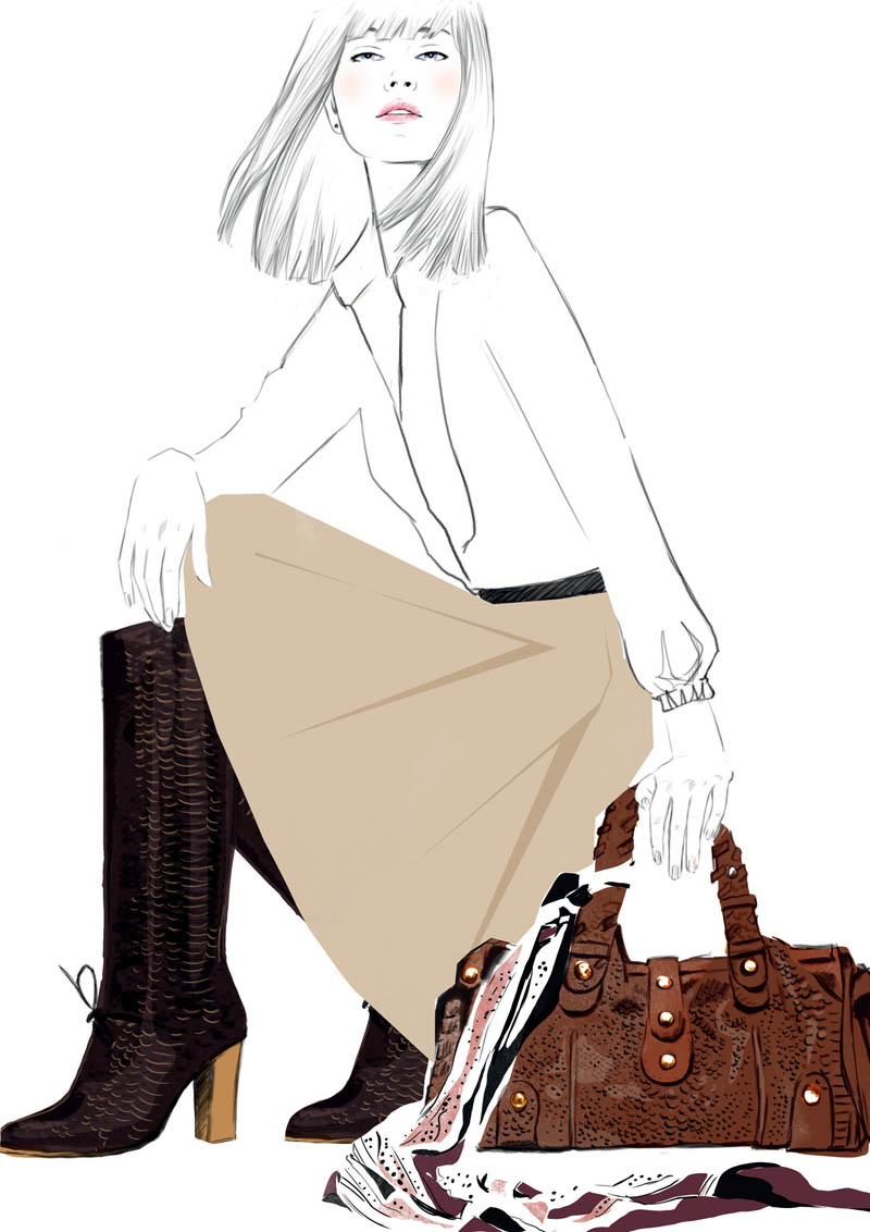 Python Sketches of Chloé Edition Anniversaire Collection