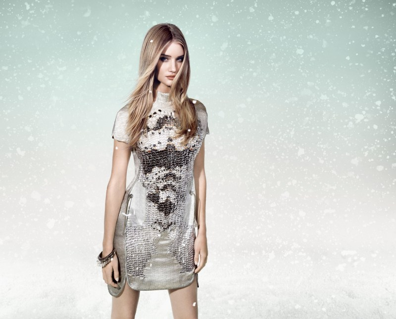 RosieWhiteleyAnimaleWinter1 Rosie Huntington Whiteley is a Snow Beauty for Animales Winter 2013 Campaign