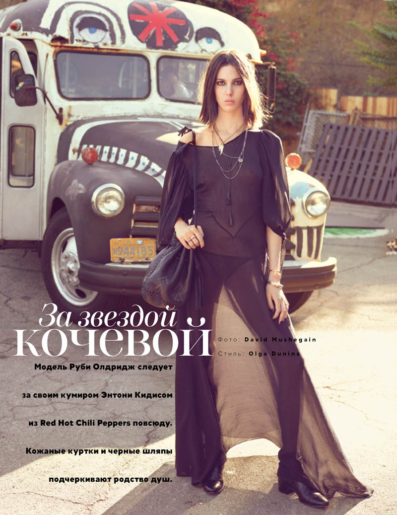 RubyAldridgeVogueRussia1 Ruby Aldridge Joins the Red Hot Chili Peppers for Vogue Russias April Issue by David Mushegain