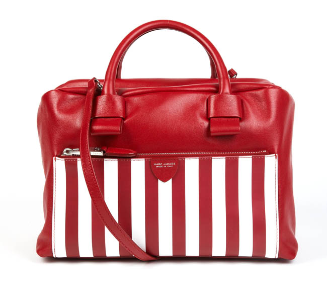 SMALL.ANTONIA.RED .WHITE  Marc Jacobs Antonia and The 1984 Handbags for Spring/Summer 2013