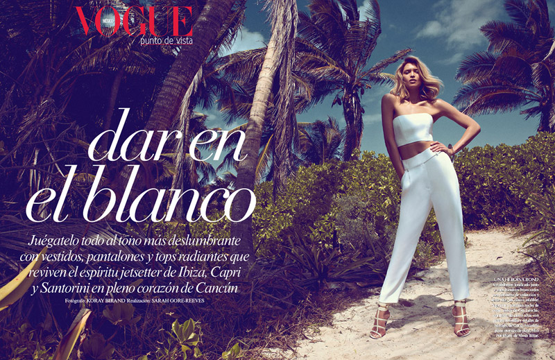 SarahGoreReevesVogueMexico1 Hana Jirickova Gets Tropical for Vogue Latin Americas 2013 April Cover Shoot