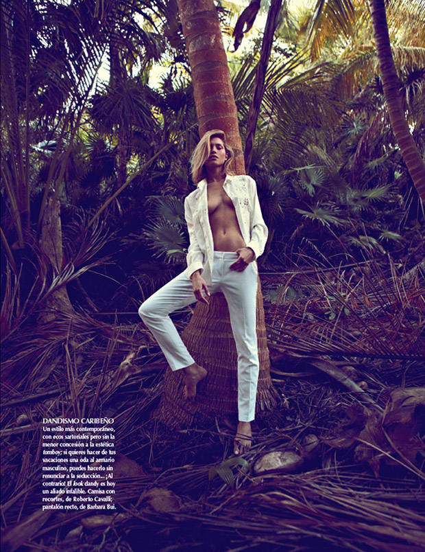 SarahGoreReevesVogueMexico9 Hana Jirickova Gets Tropical for Vogue Latin Americas 2013 April Cover Shoot